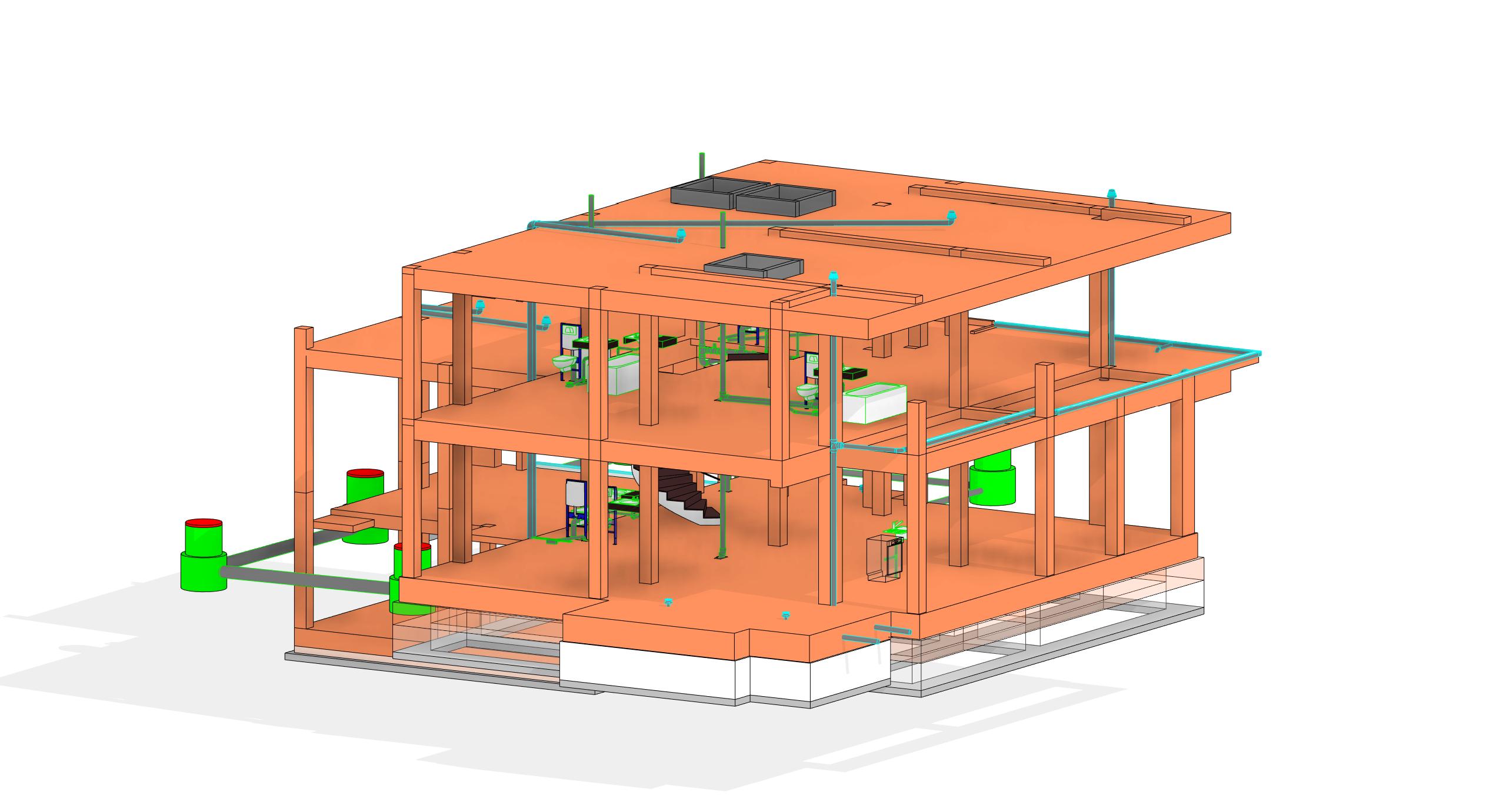 structura si instalatii 3d