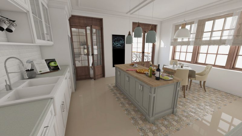 design-interior-french-retro-Bucatarie